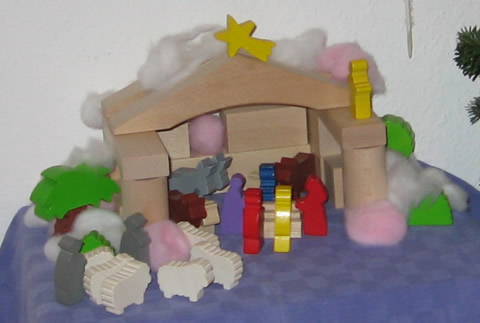 nativity scene ... filled with life now