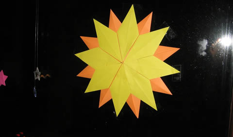 this year's first origami star